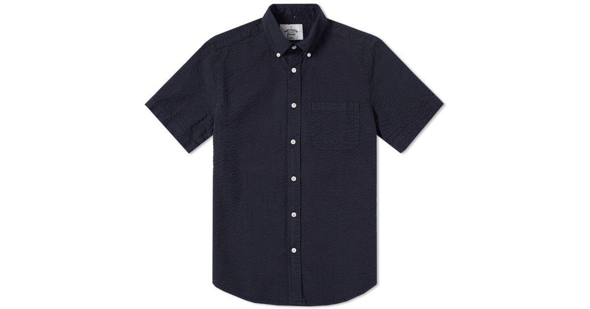 camisa de anarruga azul escuro