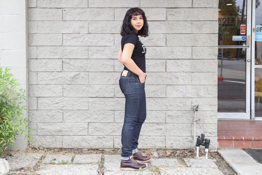 Jeans Selvedge feminino Railcar fine Goods