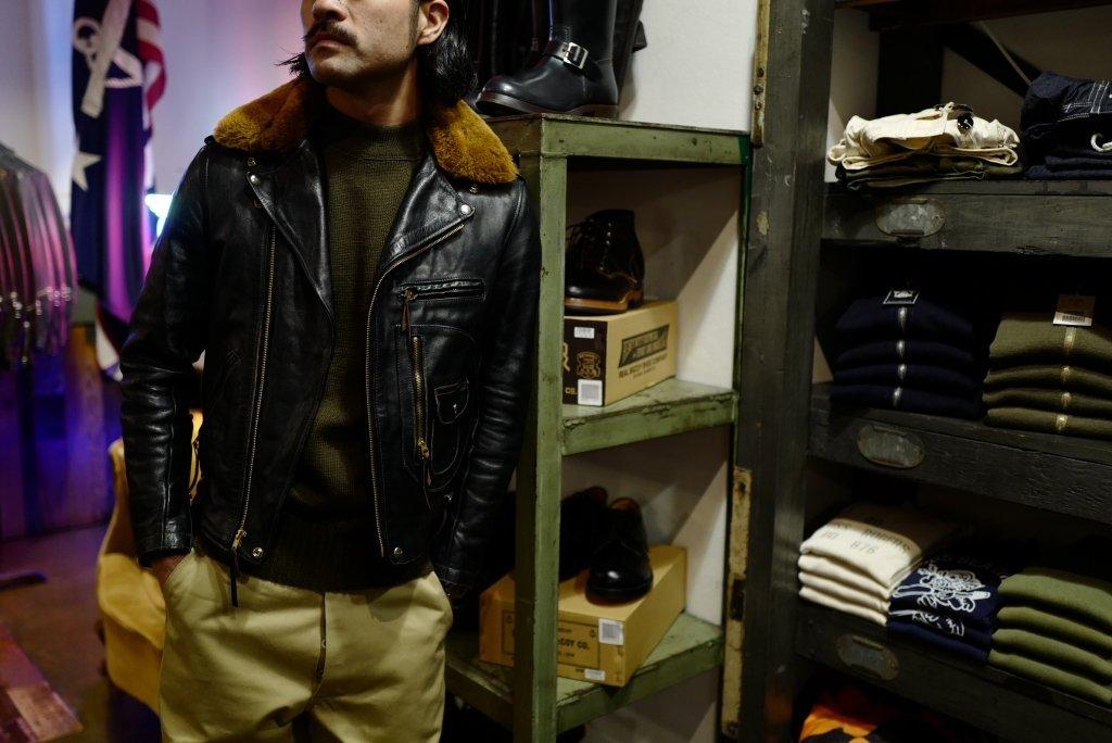 Jaqueta de couro masculina Buco