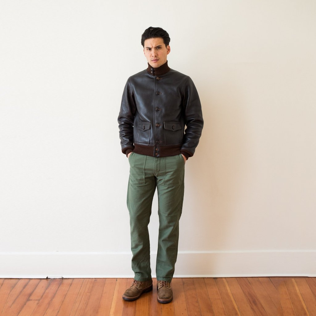 Jaqueta de couro A-1