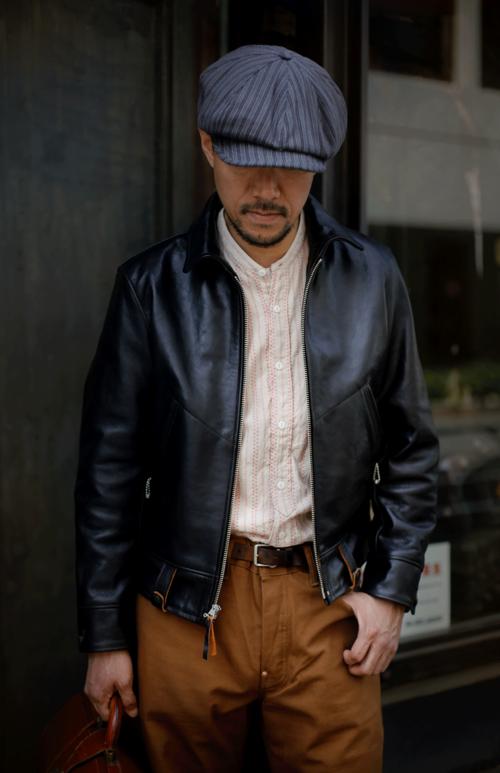 Jaqueta de couro masculina preta
