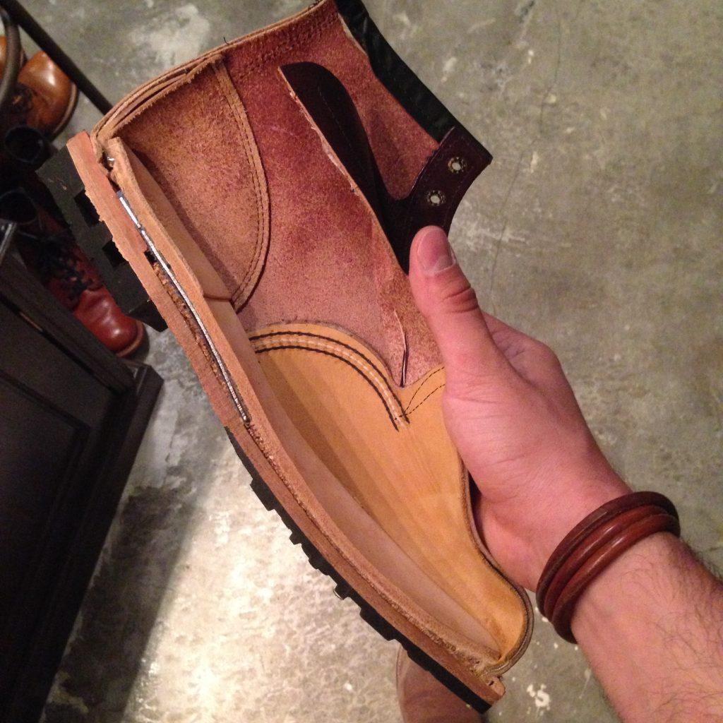 Alma de aço na bota masculina