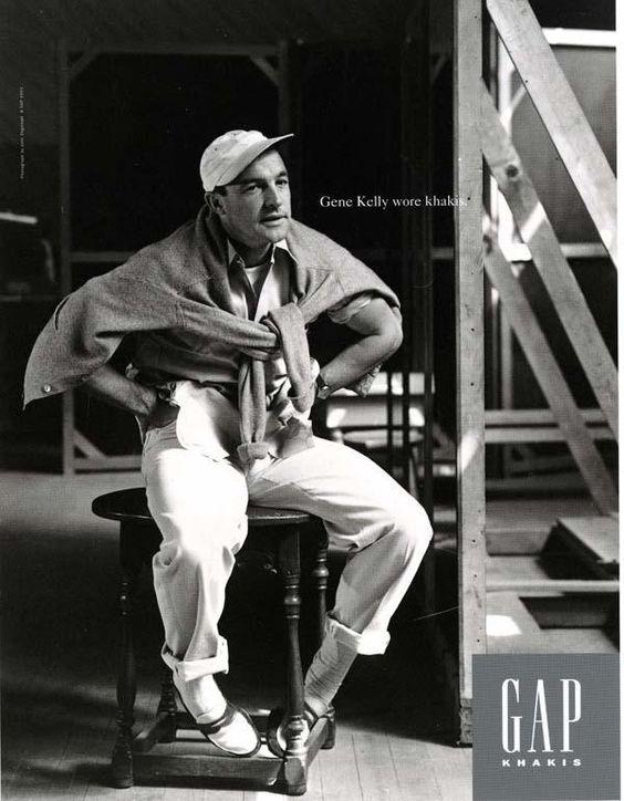 Gene Kelly calça chino