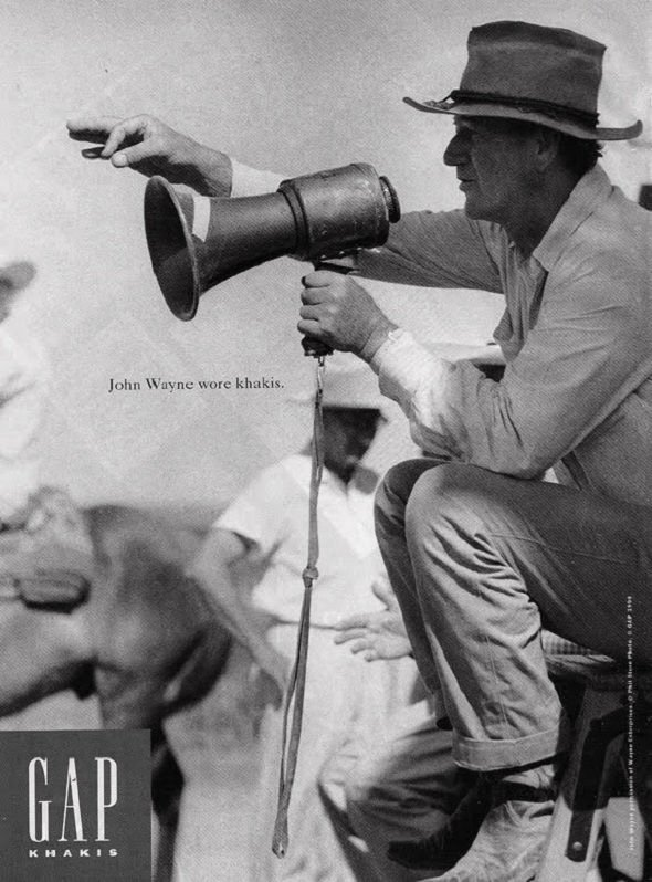 John Wayne calça chino