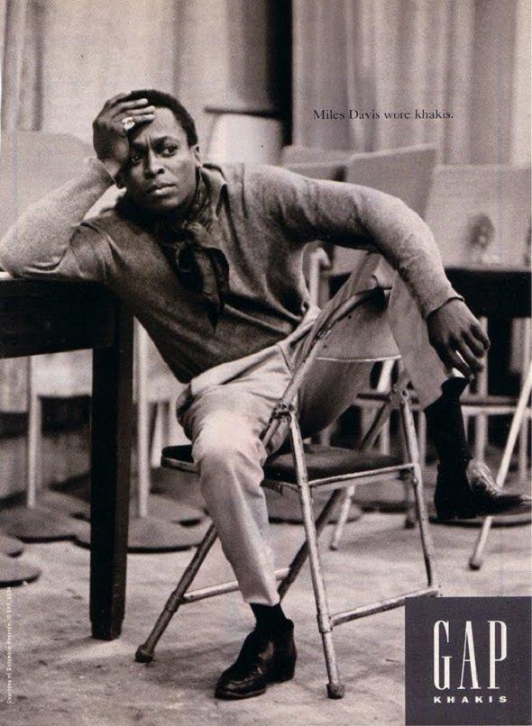 Miles Davis calça chino