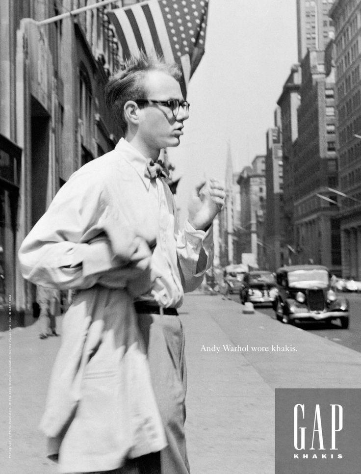 Andy Warhol calça chino