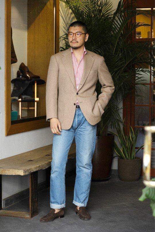 blazer masculino com calça jeans