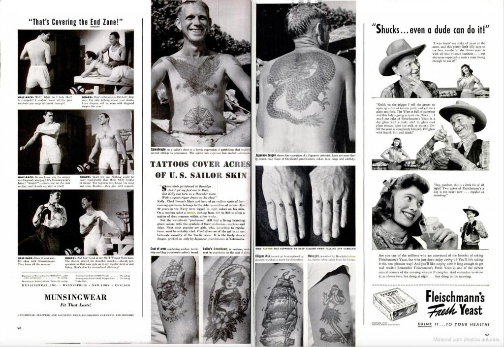 Reportagem sobre a história das tatuagens na marinha