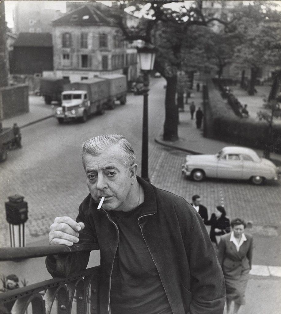 Jacques Prévert em 1955, fotografado por Robert Doisneau