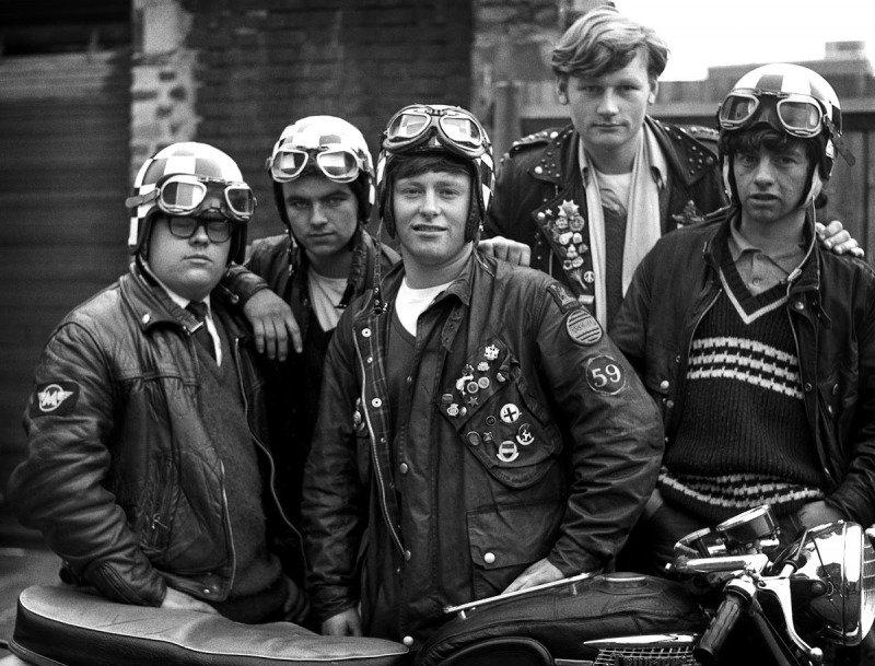 Rockers e Cafe Racers em Londres na década de 1960