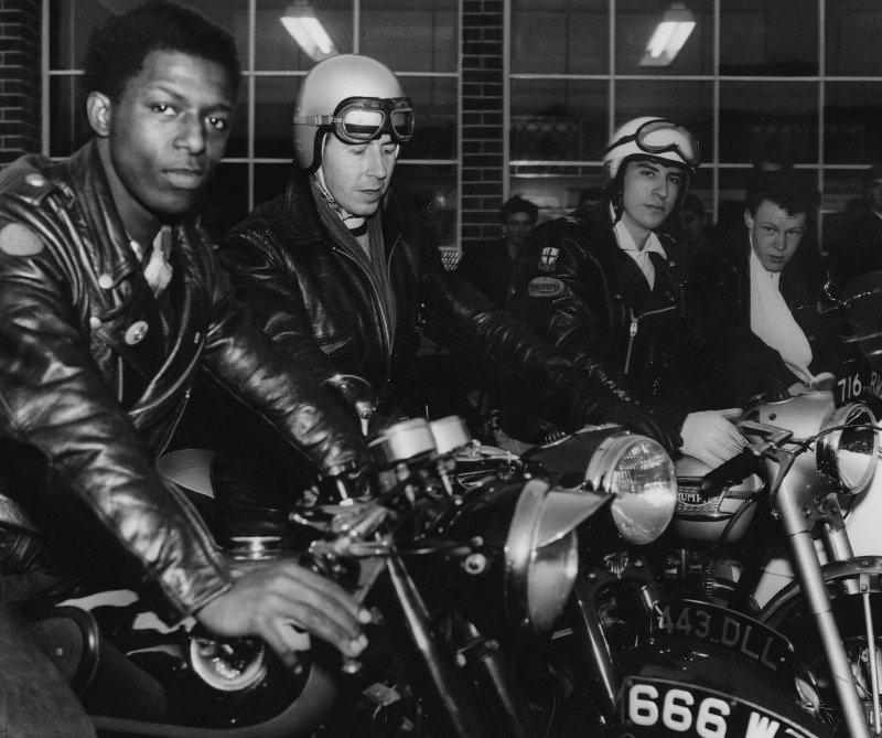 Ton-Up Rockers em Londres nos anos 60