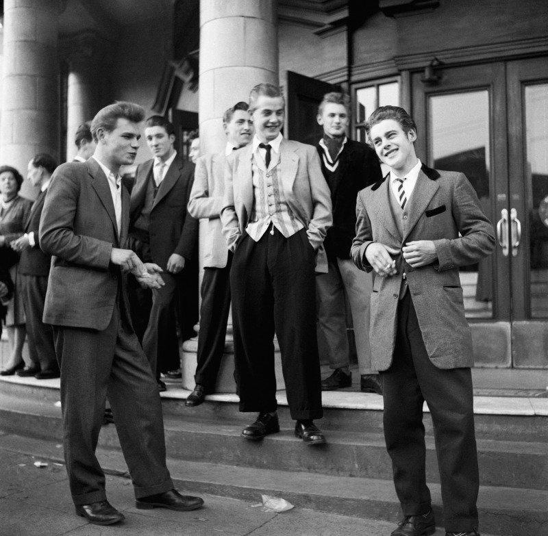 Teddy Boys da década de 1950 em Londres